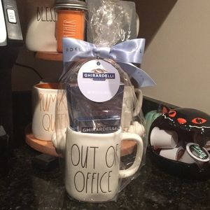 NWT out of office Rae Dunn mug gift ghirardelli